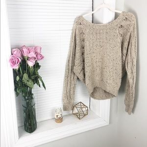 Victoria Secret Comfy Sweater w/ Open Knit Sides